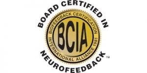 BCIA Board Certified in Neurofeedback Gold Logo